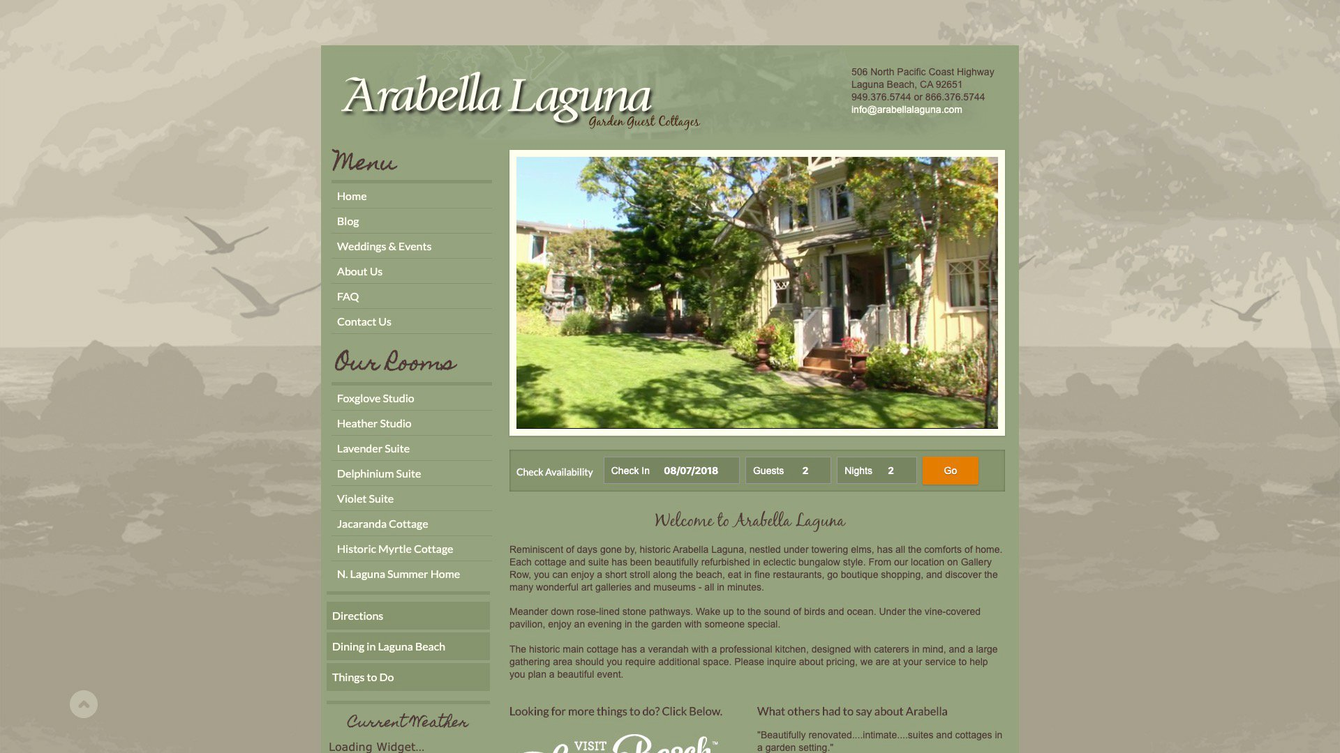 A Photo of Arabella's Homepage