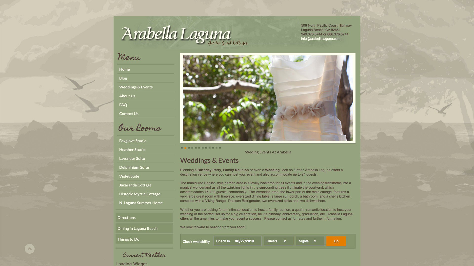 A Photo Of Arabella's Wedding Events Page