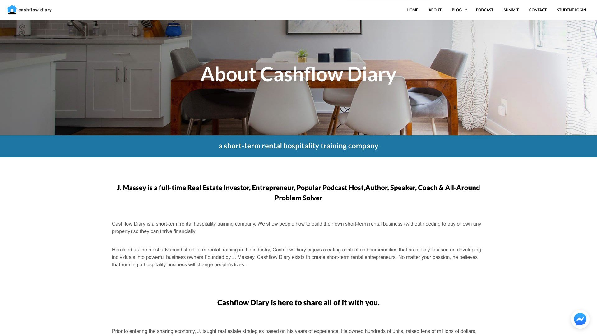 A Photo Of Cashflow Diary's About Page
