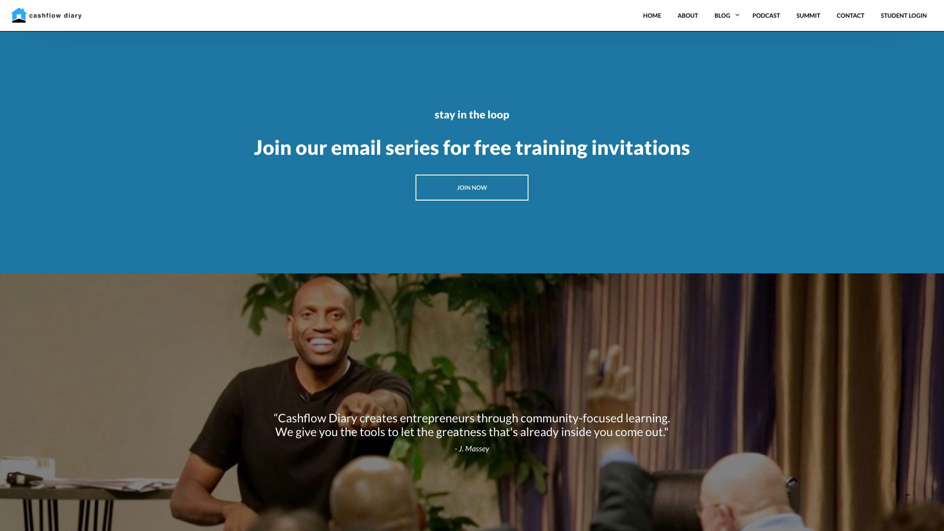 Call To Action For Cashflow's Footer Area