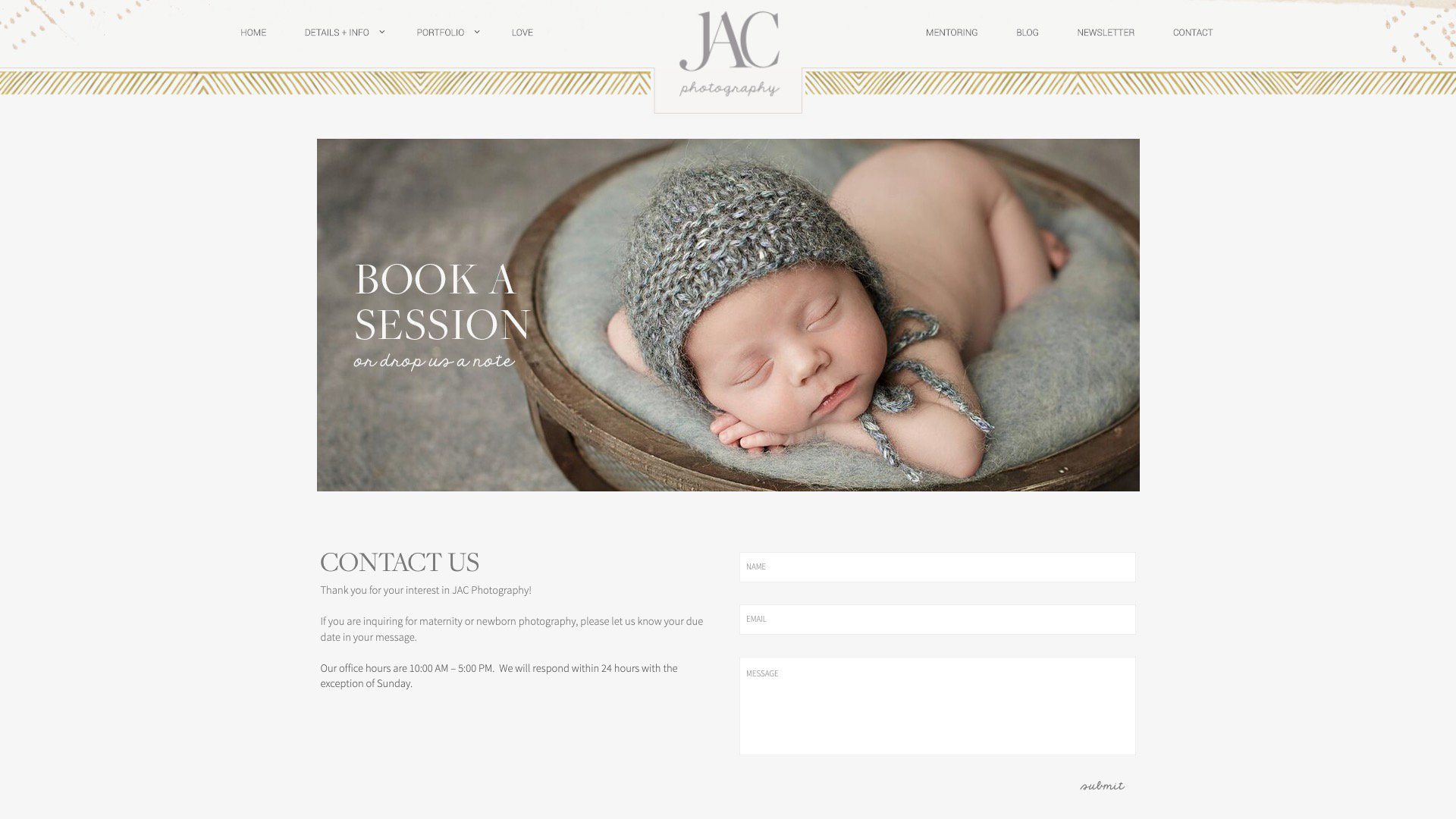 A Photo Of JAC Photography's Contact Page