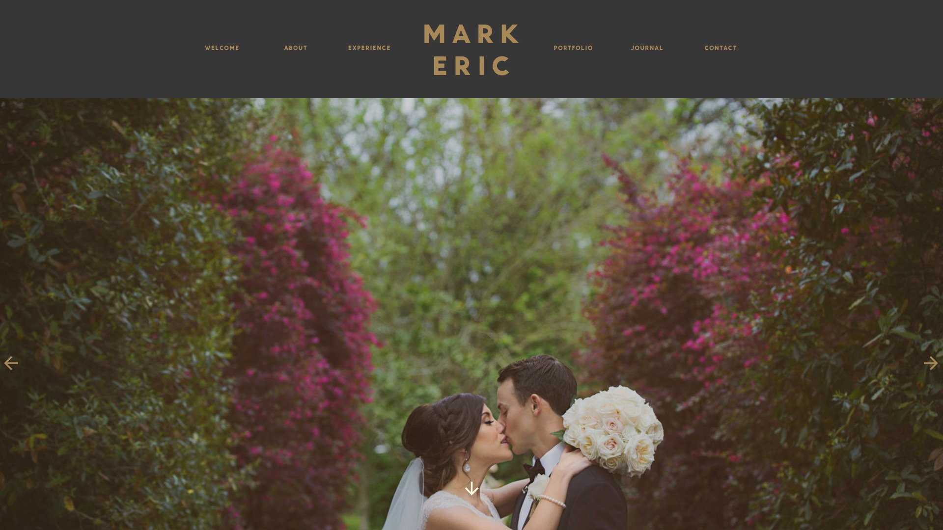 A Photo Of Mark Eric Photography's Homepage